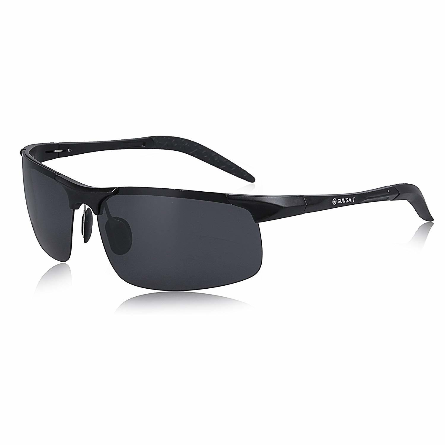 156db182f4d SUNGAIT Men s Polarized Sunglasses UV400. Through the adjustable temple